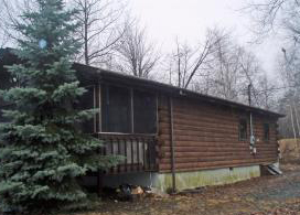 mt pocono log cabin